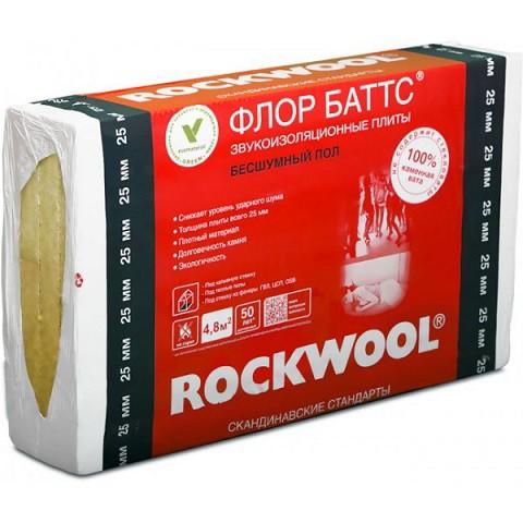 Базальтовая вата Rockwool Флор Баттс 1000х600х50 мм 4 шт