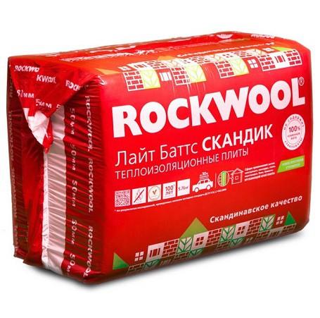 Базальтовая вата Rockwool Лайт Баттс Скандик 800х600х50 мм 12 шт