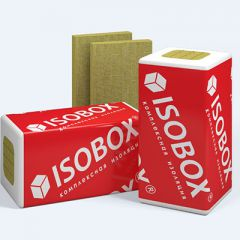 Базальтовая вата Isobox Экстралайт тепло-звукоизоляционная 1200х600х50 8 шт